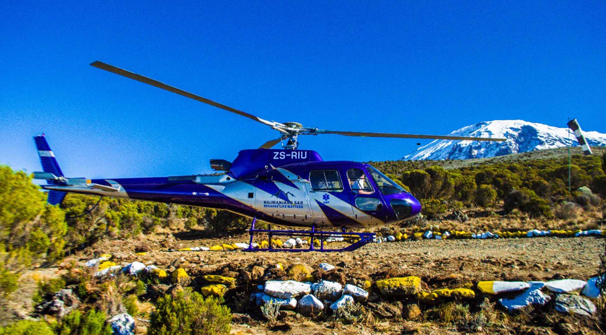 Helicopter tours in Kilimanjaro